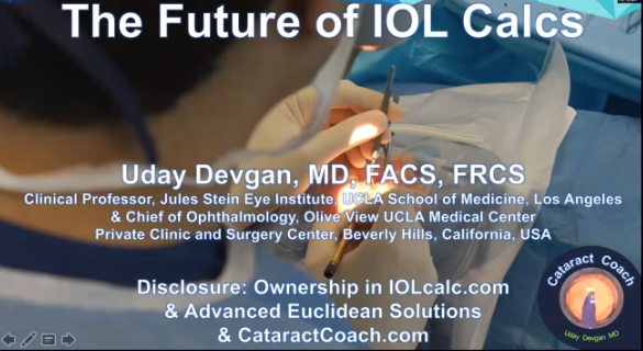Uday Devgan – The Future of IOL Calculations is AI