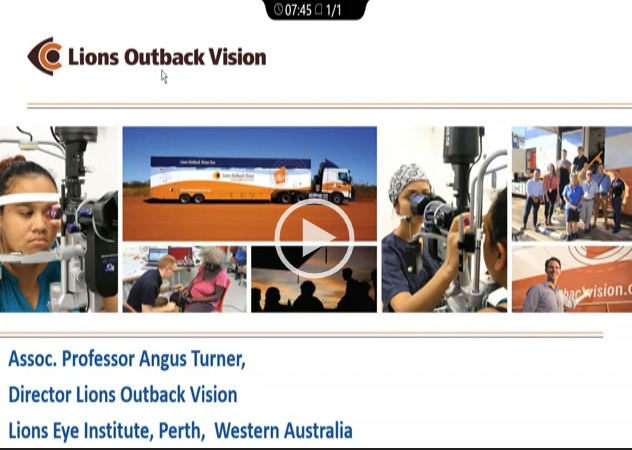 Angus Turner – Addressing Barriers to Ophthalmic Services in Rural Western Australia: An Audit of an Outreach Ophthalmology and Tele-Ophthalmology Service