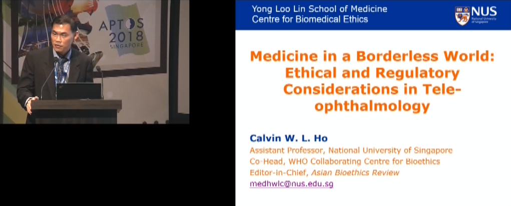 Calvin Ho – Medicine in a Borderless World: Ethical and Regulatory Considerations in Tele-ophthalmology