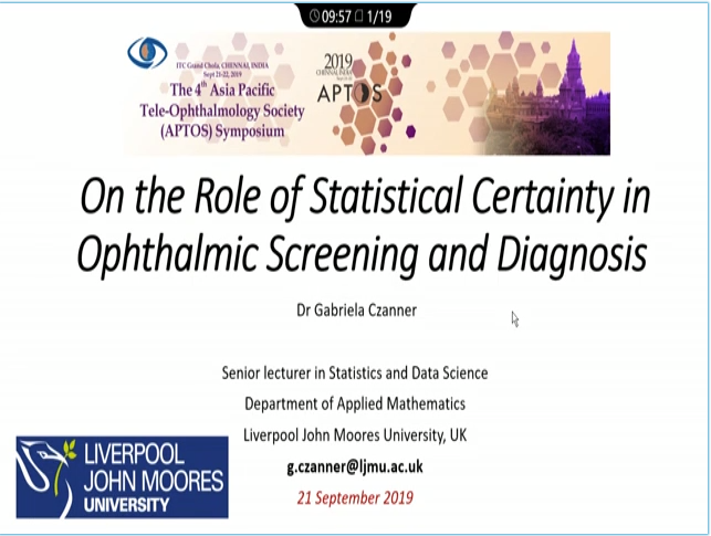 Gabriela Czanner – On the Role of Statistical Certainty in Ophthalmic Screening and Diagnosis