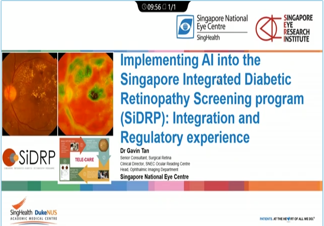 Gavin Tan – Our Own Integration and Regulatory Experience with Implementing AI into our DR Screening Program in Singapore