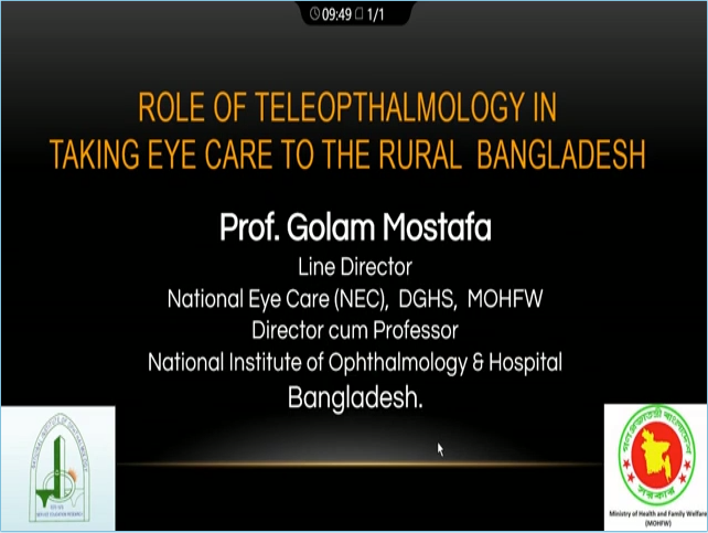 Golam Mostafa – Role of Tele-Ophthalmology in Taking Eye Care to the Rural Population of Bangladesh