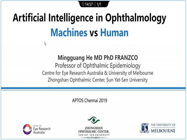 Mingguang He – Artificial Intelligence in Ophthalmology – Machines VS Humans