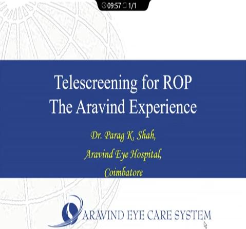 Parag Shah – Tele-Screening for ROP
