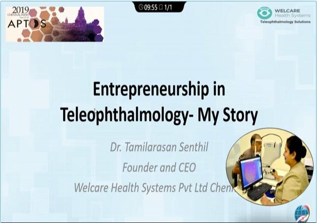 Senthil Tamilarasan – Entrepreneurship in Tele-Ophthalmology – My Story